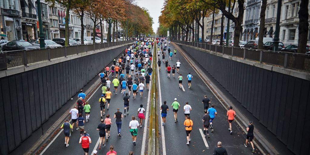 Een marathon of een wandeling om je blok. Blijven doorzetten is de boodschap!