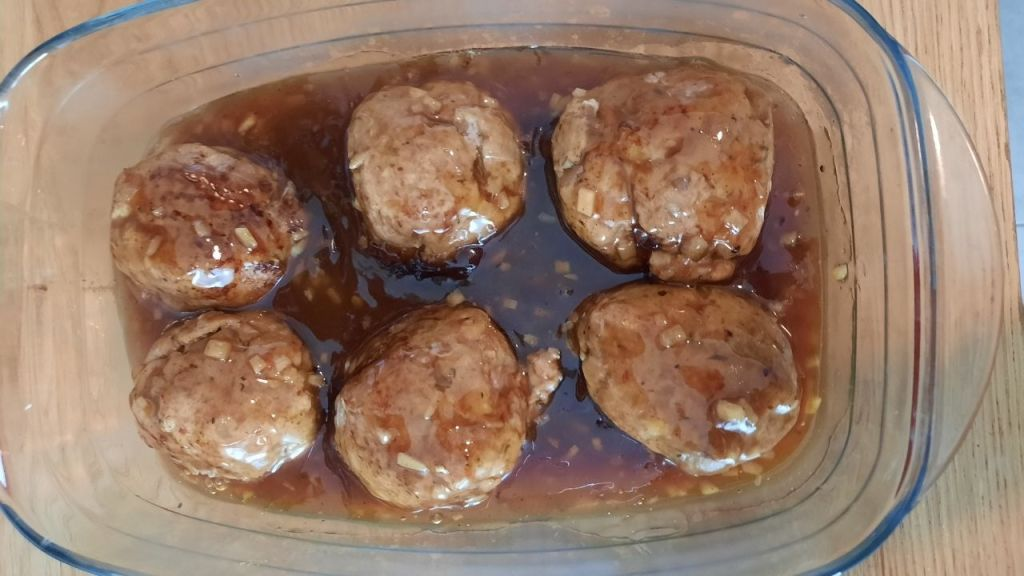 meatballs with sauce in casserole