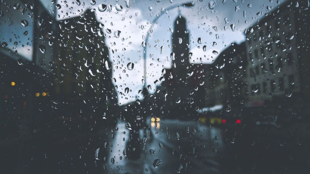 city in a rainy day